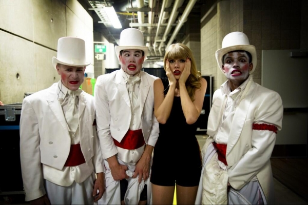 """Ran backstage for a quick change in the dark and ran into one of my dancers &realized their costumes are TERRIFYING."""