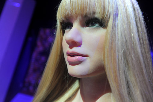 A wax figure of singer Taylor Swift is on display during the launch of an interactive music experience exhibition at Madame Tussauds in New York, February 19, 2014